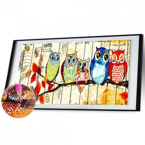 Cartoon Owls (100*50cm)