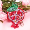 5pcs DIY Fruits Full Drill Special Shaped Diamond Painting Keychains Gifts