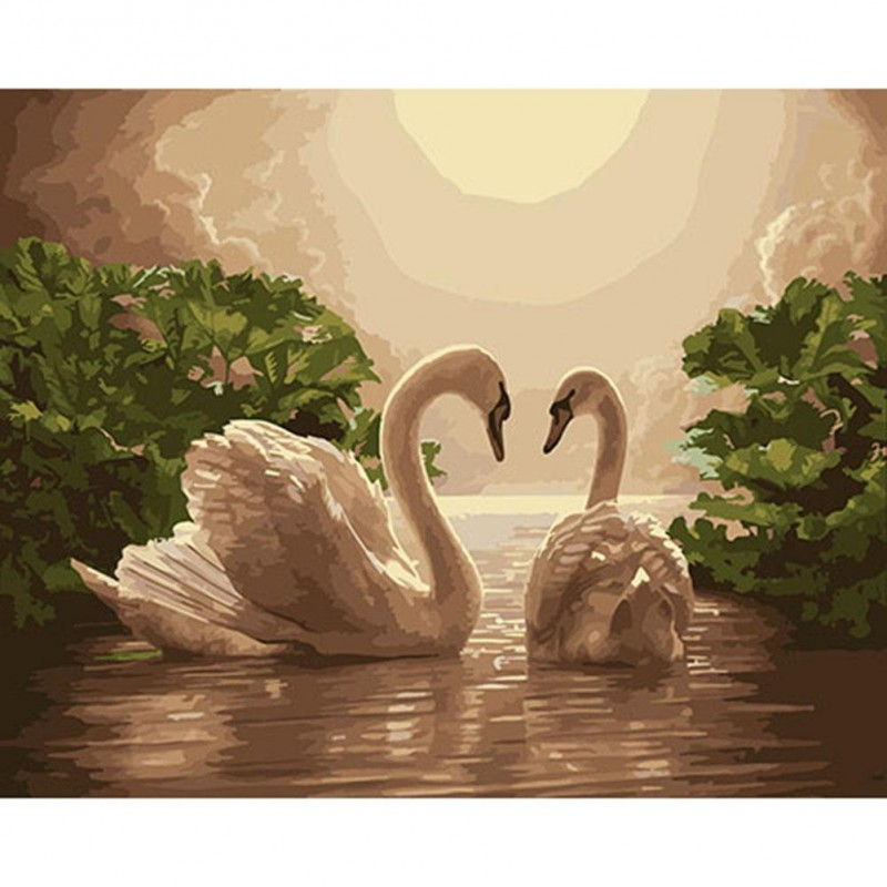 Paint-By-Number Swan...