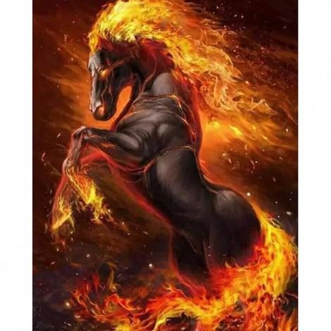 Paint-By-Number Fire Horse (40*50cm)