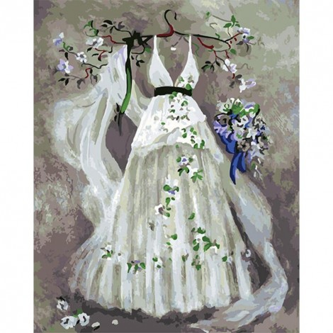 Paint-By-Number Wedding Dress (40*50cm)