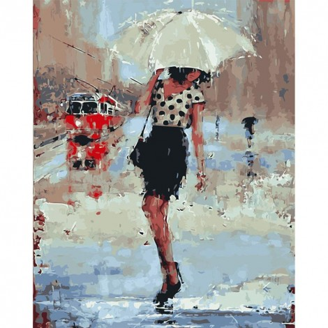 Paint-By-Number Umbrella Girl (40*50cm)
