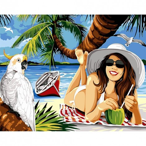 Paint-By-Number Vacation Woman (40*50cm)