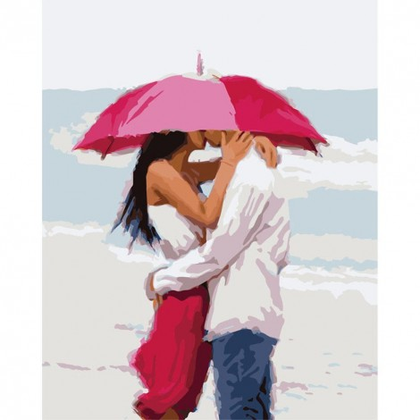 Paint-By-Number Umbrella Lovers (40*50cm)