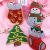 4pcs DIY Christmas Full Drill Special Shaped Diamond Painting Bag Keychains