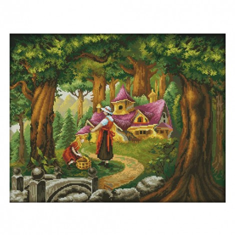 14ct Stamped Cross Stitch - Fairy Tale Wooden House (55*45cm)